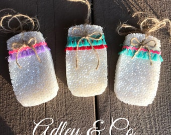 Mason Jar Car Scents {Choose your Scent} with embellishments