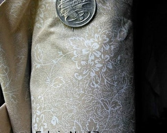 100% cotton, fabric, extra wide, coffee, white, neutral, floral, quilt backing, quilt fabric,