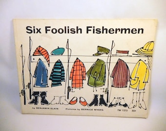 Children's Book / SIX FOOLISH FISHERMEN - 1968 - Benjamin Elkin / Vintage Kids Story