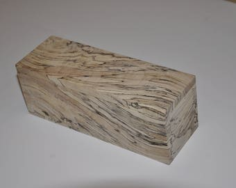 Handmade Wood Box Made with Rare Reclaimed Spalted Maple Salvaged From Firewood Pile
