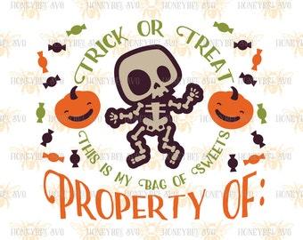 Silly Skeleton Candy Bag svg Halloween svg Halloween decor svg Treat Bag svg Trick Or Treat svg Silhouette svg Cricut svg eps dxf Fall svg