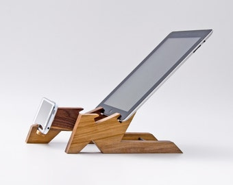 Wood Tablet Stand / iPad Stand / Tablet Holder / iPad Stand Kitchen / iPhone Stand / iPad Mini Stand ALTAIR