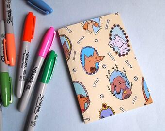 Dog notebook - A6 notebook - I like cats - Plain paper notebook - small notebook - dog journal - dog gifts - dogs - Sketchbook - Plain paper