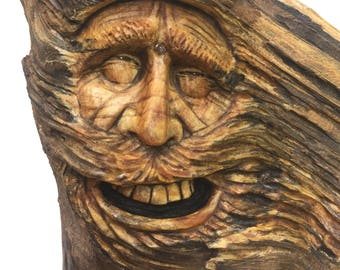 Wood Carving, Wood Spirit, Wall Art Decor, Hand Carved Face, Perfect Wood Gift, Collectible Art, Original Art, Unique Sculpture, Handmade