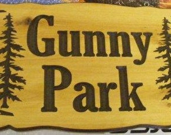 Personalized camp sign  22 x 10   Northern Cedar Carved Wood Sign    Personalized