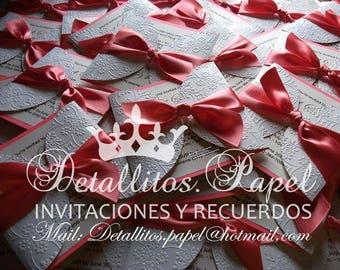 Quinceañera Invitation, Wedding Invitation, sweet 16 invitation, Gatefold Invitations, Bridal Shower invitation