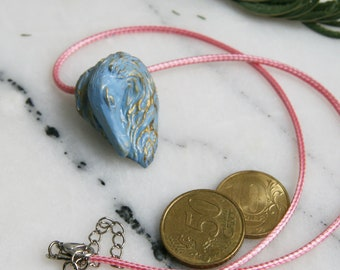 Borzoi (Russian wolfhound) Dog Essential Oil Diffuser Necklace for Aromatherapy Blue