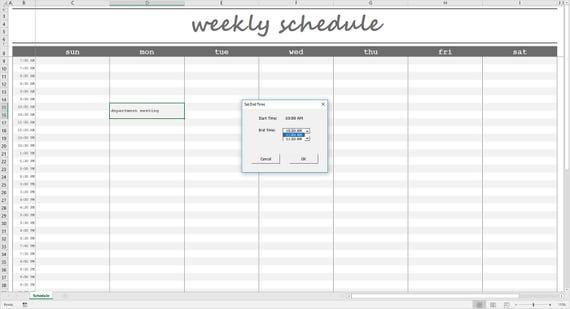 Elegante Wochenplan grau Druckbare Wochenplaner