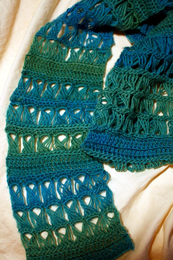 Crochet Pattern - Easy Broomstick Lace Scarf - Emerald Isle from ...