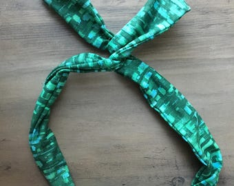 Wire Headband, Dolly Bow, yoga wire headband, head wrap, knot headband, twist headband, St Patricks day headband, green headband, top knot