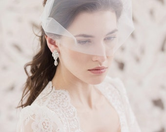 Bandeau Wedding Veil, Bandeau veil, Wedding veil, Bridal veil, Face veil, Off white veil, Ivory veil, White veil, Bridal Accessories,