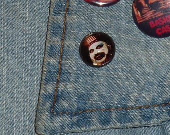 Captain Spaulding Inspired 16mm Pin / Horror Pin / Horror Brooch / Metal Pin / The Devil's Rejects / House of 1000 Corpses / Rob Zombie