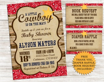Cowboy baby shower etsy cowboy baby shower invite invitation bundle 5x7 digital sprinkle western country personalized filmwisefo Images