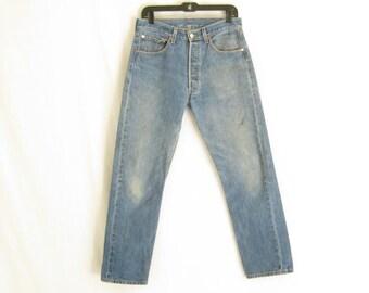 Vintage LEVIS 501 Straight Leg Grunge Jeans.  Size 32 x 33