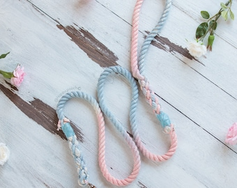 Moonstone Dog leash, Puppy Leash, Rope Dog Leash, Ombre Rope Leash, Cotton Dog Leash, Tassle Leash, Puppy Lead, Marble dog Leash
