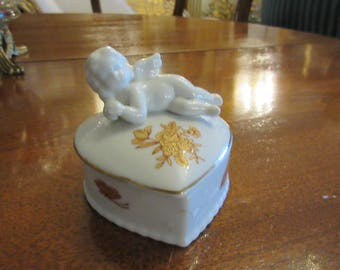 CUPID HEART TRINKET Box with Lid