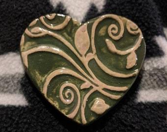 Vine Heart Ceramic Magnet