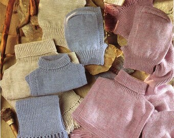 mens / womens / childrens . balaclavas . polo insert . scarf . knitting pattern pdf DK & 4ply accessories Child-adult DK 4ply 8ply Download
