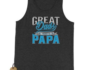 Great Dads Get Promoted To Papa Jersey Tank Top for Men