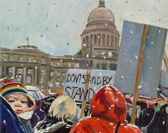 Raidy's March on Idaho - giclee print on paper