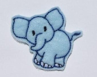 INSTANT DOWNLOAD Felt Elephant Luna Applique Embroidery designs