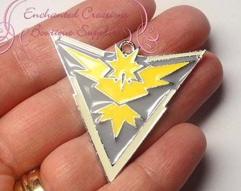 Pokemon Yellow Team Instinct Inspired Chunky Pendant, Keychain, Bookmark, Zipper Pull, Chunky Jewelry, Purse Charm