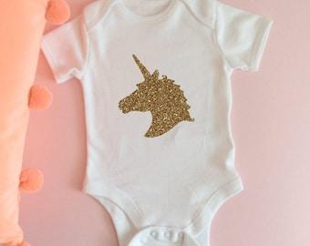 Glitter onesie etsy unicorn babygrow bodysuit romper baby onesie baby vest new baby negle Choice Image