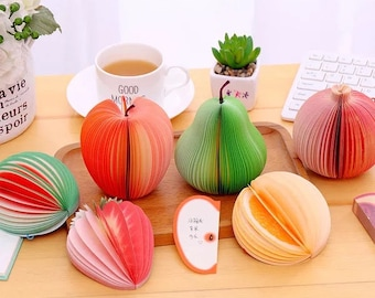 Quirky, fruit design, sticky / post it note pads