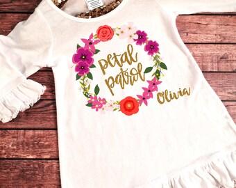 Petal Patrol Dress, Flower girl dress, Petal Patrol outfit, Flower Girl Gift, Flower Girls, Flower Girl, Flower Girl Top, Flower girl Shirt
