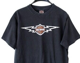 Vintage Harley Davidson T-Shirt Black Harley Davidson Shirt  Motorcycle T-Shirt Collectible Biker Harley Davidson Cancun Sweatshirt Size M
