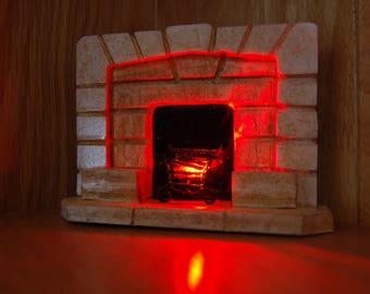 Miniature Fireplace 1:12  Art Deco Effect-Dolls House Fireplace