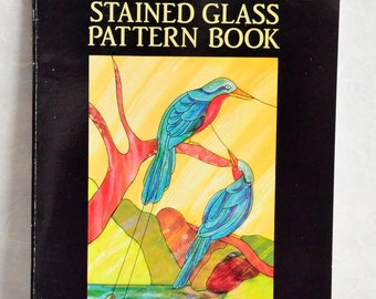 Decorative Birds Stained Glass Pattern Book, used, condition very good