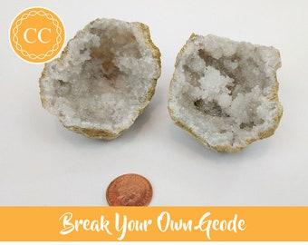 Pack of 3 Break Your Own Quartz Geode - Crystal Gift