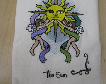 The Sun Tarot Card Towel - DISCOUNTED FOR FLAW