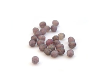 25 purple Czech faceted 6mm beads