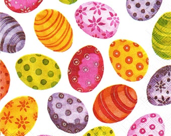 Easter eggs 686 MULTICOLORED pattern 4 X 1 lunch size paper towel