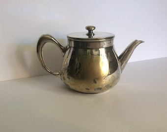 Vintage Christofle silverplate Individual teapot Used on the HMS Queen Mary