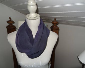 Marbled purple Couture silk Snood