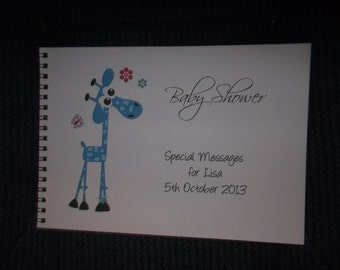 Personalised Baby Shower Guest Keepsake Book