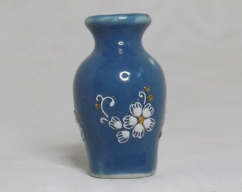 Miniature Dollhouse Ceramic Vases With Scroll Relief. Miniature Dollhouse Living Room, Bedroom Accessories. Home Decor. Handmade Vases