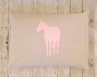 Horse Pillow Sham - Cover / 20 x 26 / horse pillowcase - equestrian pillow - pony pillow - gift for horse lover