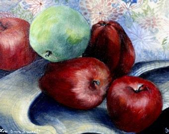 Apples, Orginal Oil Painting