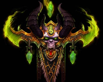 World of Warcraft demon hunter crest wall art
