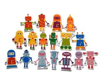 Felt board, Robots, homeschool, felt board pieces, flannel board, felt board story, quiet book, busy book, felt story, flannel stories, play