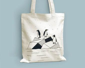 Cotton Tote bag Penguins