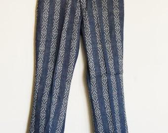 """70's Vintage NOS Bellbottoms // Brocade Striped // 31"""" x 31"""""""
