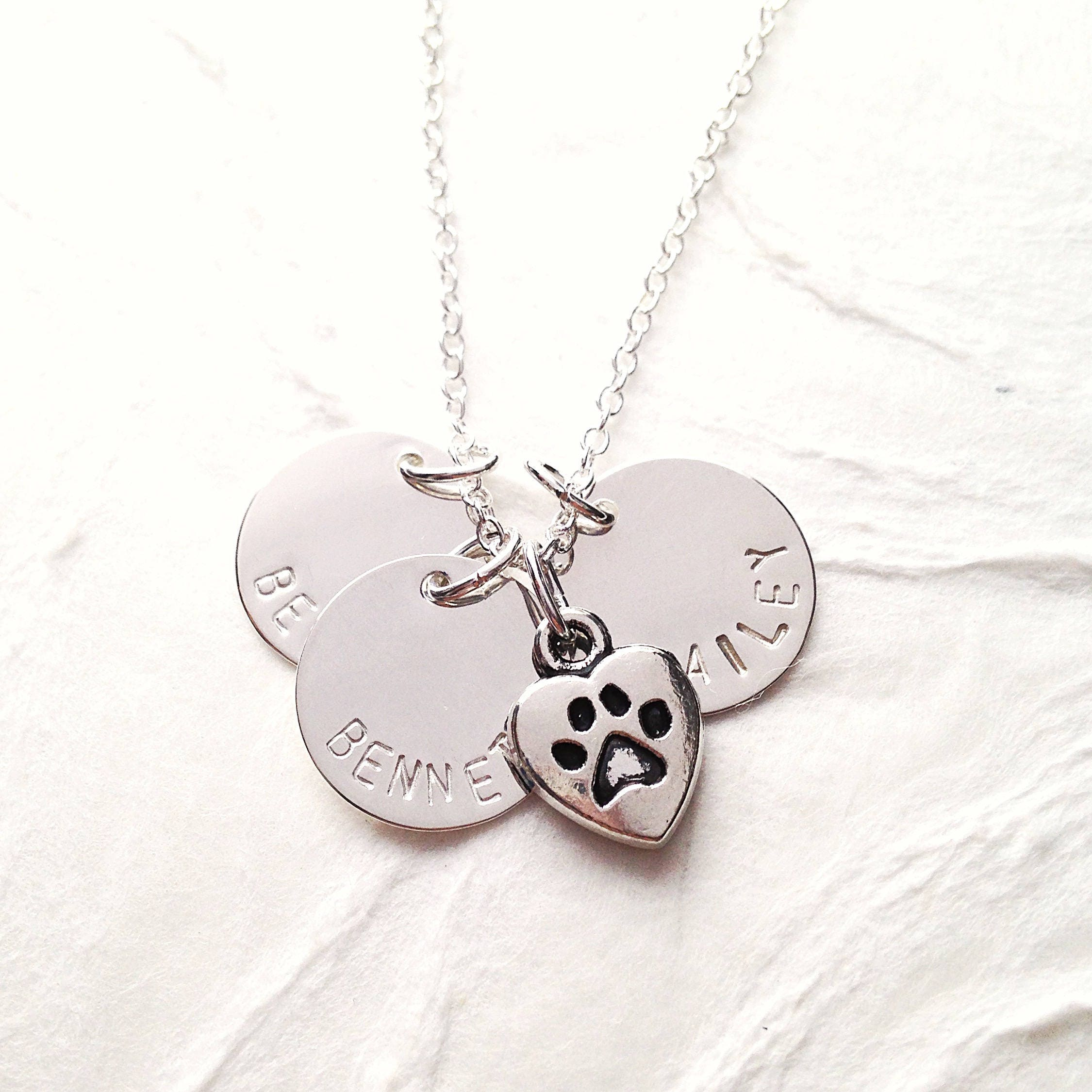 dog lovers products lover paw print vila for necklace rosa