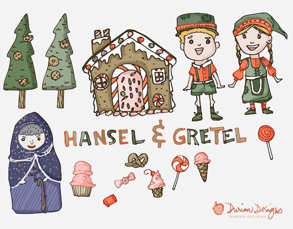 Hänsel und Gretel Clipart kommerzielle Nutzung Hexe Kinder