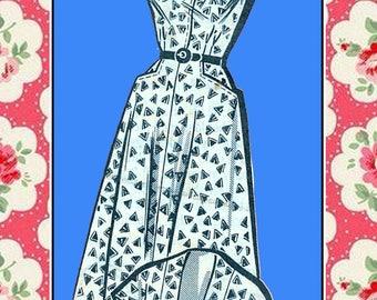 Vintage 1950s-DRESS-JACKET-Mail Order Sewing Pattern-Sweetheart Neckline-Flared Skirt-Pockets-Flared Skirt-Plus Size-Rare