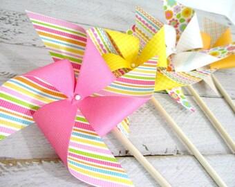 Birthday Decorations Paper Pinwheel Party Favors Birthday Party Decorations Birthday Favors Flowers Birthday Decor Table Centerpiece